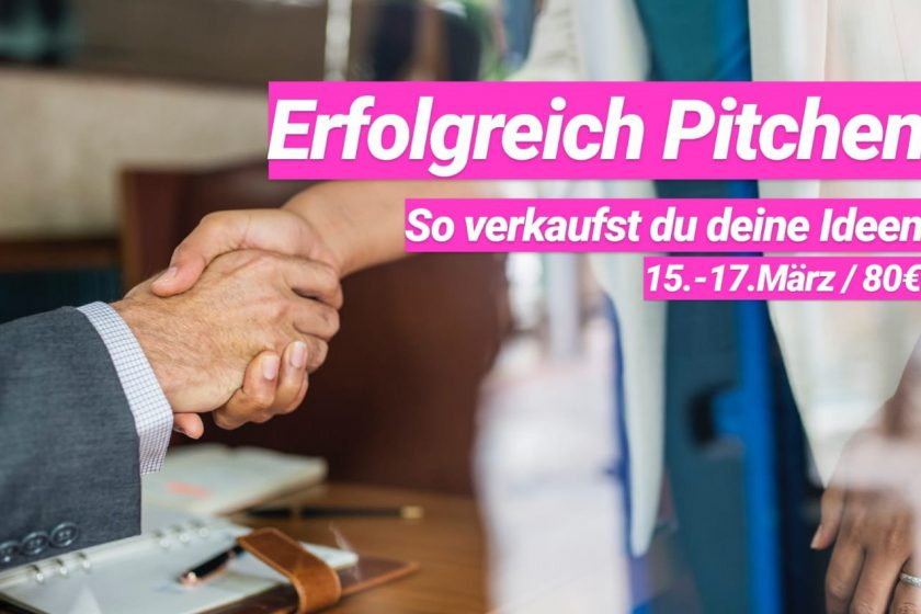 "NJB-Seminar ""Erfolgreich pitchen - So verkaufst du deine Ideen"""