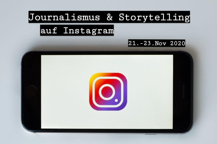 """NJB-Seminar """"Journalismus & Storytelling auf Instagram"""" vom 21. bis 23. November 2020 auf Kloster Banz"""